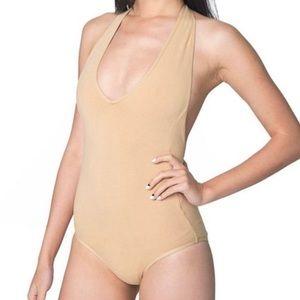 American Apparel Nude Cotton Bodysuit NWT